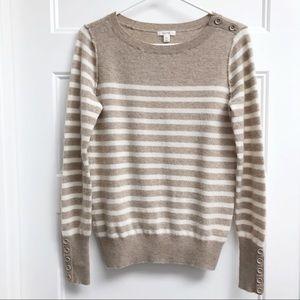 Caslon Cashmere Striped Sweater